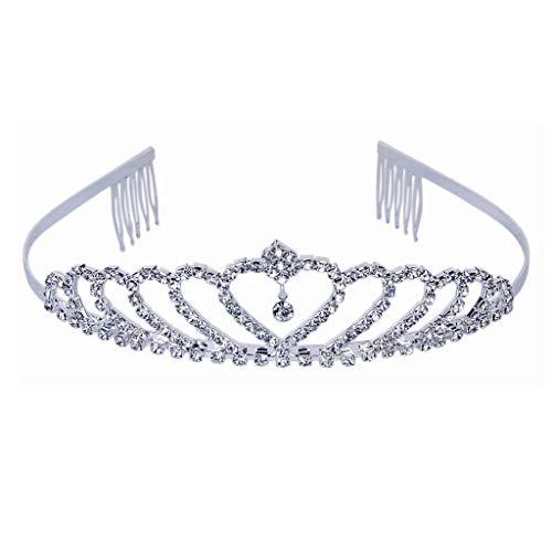 Tiara de cristal para mujer – Encci Preciosa Tiara de cristal, corona de princesa elegante corona con peines para mujeres, niñas, novia, boda, baile de graduación, fiesta de cumpleaños (hermosa)