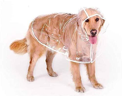 YUNVJIG Chubasqueros para Perros Adecuado para Perros pequeños Grandes y medianos Poncho Impermeable de Verano Transparente Ropa para Mascotas-Transparente_4XL-Busto: 79cm