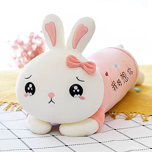 Anyinghh 55/75/95/115 cm Gran Conejo muñeca de Peluche Almohada niña Cama para Dormir Ragdoll Abrazo Oso muñeca niña Regalo 95 cm A