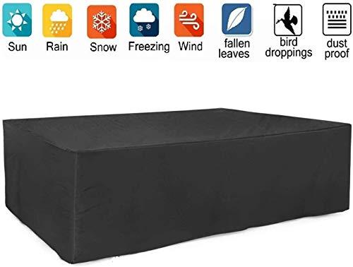Cubiertas de muebles al aire libre Patio, Patio mesa y sillas de cobertura de invierno muebles de salón Protectores, impermeable a prueba de viento de nieve polvo, anti-UV ( Size : 270*180*89cm )