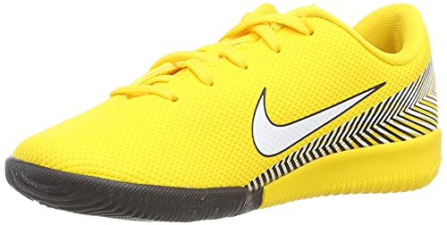 Nike Jr Vapor 12 Academy PS NJR IC, Zapatillas de fútbol Sala Unisex niño, Multicolor (Amarillo/White-Black 710), 30.5 EU