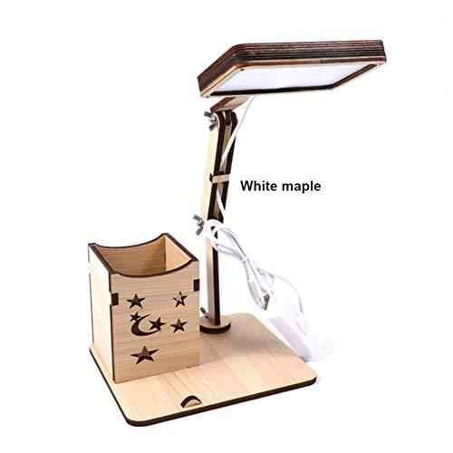 Lámpara escritorio LED recargable maceta cepillo