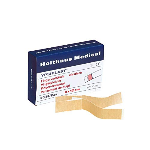 Holthaus Mediacl YPSIPLAST® Fingerverband Fingerpflaster Wundpflaster, elastisch, lose, 3x12cm, 100 St