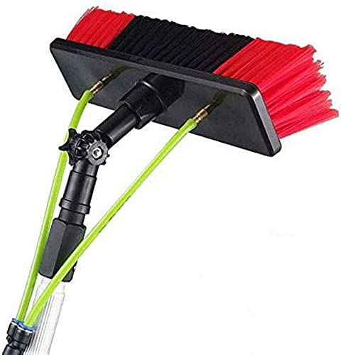 HAOJON Window Cleaning Pole, Window Cleaner Kit, Water/Hose Fed Pole, Window Cleaning Brush Equipment, Cleaning Photovoltaic and Solar Panels / 12m/39.37ft