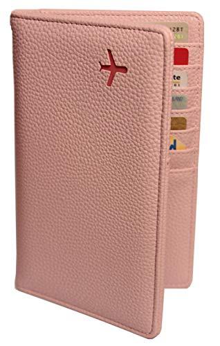 Travelair Reisepass Hülle Stilvolles Übersichtliches Reisen Mit Pass & Kreditkarten | Pinke Cover Etui Mappe | RFID