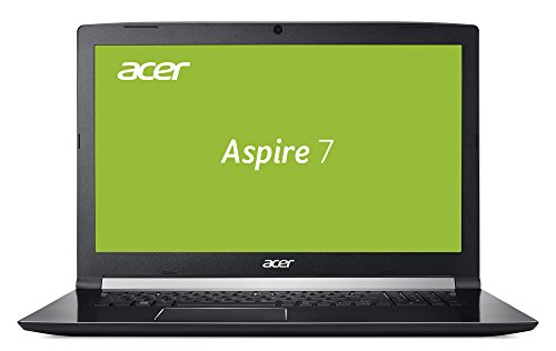 Acer Aspire 7 (A715-71G-74S7) 39,6 cm (15,6 Zoll Full-HD IPS matt) Multimedia/Gaming Notebook (Intel Core i7-7700HQ, 16GB RAM, 512GB PCIe SSD, NVIDIA GeForce GTX 1050Ti (4 GB VRAM), Win 10) schwarz