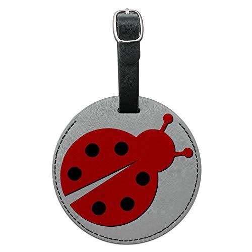 Graphics & More Cartone Animato Coccinella Signora Bug Rotondo Bagagli Id Tag Valigia Carry-on, Nero