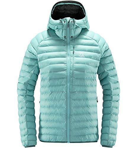 Haglöfs Essens Mimic Hood Chaqueta, 4DG - Glacier Grey, M para Mujer