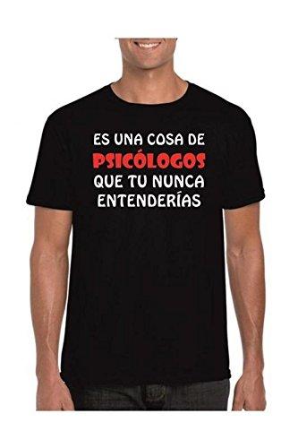 Camisetas divertidas Child Cosa de psicologos Que tu Nunca entenderias - para Hombre Camisetas Talla Large Color Negro