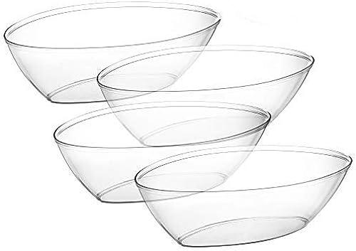 Embellir ovale de service plastique bols 1814,4gram Conturouge Party, salade, Snack, jetables Cristal Clair Bol ovale clear Bowls