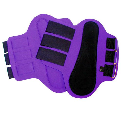 Intrepid International Splint Boots with Black Patches, Large, Purple -  245905