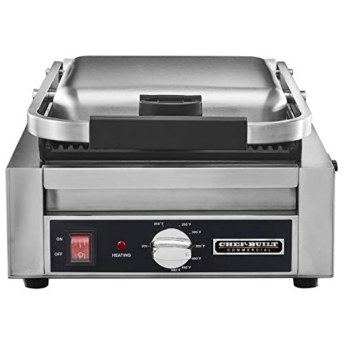 CHEF-BUILT (CPG-80) 9.5'' X 9.5'' Commercial Panini Grill