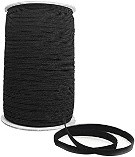 rotolo intero da 9 mm di larghezza gonne e pantaloni/… bobina di fascia piatta per abbigliamento 100 metri di lunghezza Trimming Shop nastro elastico nero per cucito e artigianato