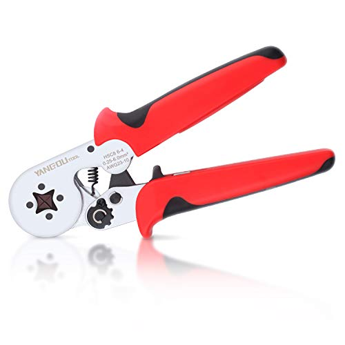 Hexagonal Ferrule Crimping Tool,Yangoutool HSC8 6-4 Ferrule Crimper and Ferrule Wire Crimper Used for AWG23-10 (0.25-6.0mm²) Cable End-sleeves