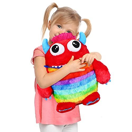 I LOVE FANCY DRESS LTD Juguetes suaves de peluche para niños (40 cm), diseño de monstruo, color rojo