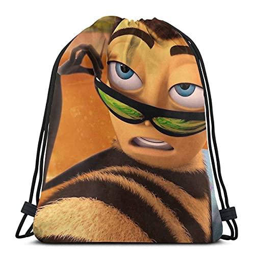 Mochila con cordón Barry Benson Is Hot Af Bee Movie Meme Casual Fitness Bag Deportes al aire libre Mujeres con cordón Mochila Viaje Hombres Cincha Bolsas Bolsa con Cordón Regalo de Cumpleaños S
