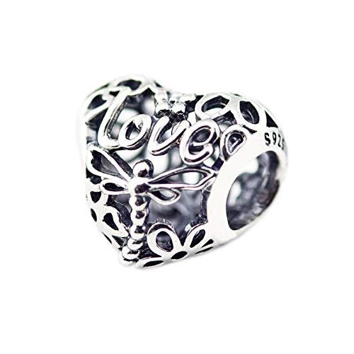 LIJIAN DIY 925 Sterling Jewelry Charm Beads - Promise of Spring Haz Collares Originales De Pandora, Pulseras Y Tobilleras, Regalos para Mujeres