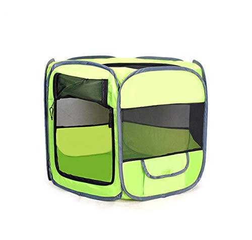 GDDYQ Generico Pet Portable Opvouwbare box Esercizio 6-panel Kennel Mesh Afdekking Parasol binnen/buiten tent voor katten