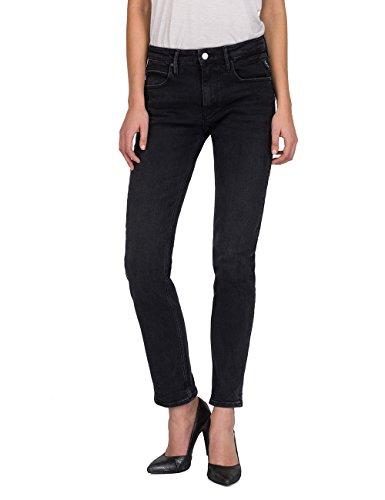 Replay Damen JACKSY Straight Jeans, Schwarz (Black 98), W28/L32