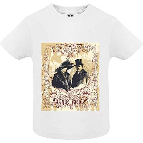 T-Shirt - Antique Fashion - Bébé Garçon - Blanc - 6mois