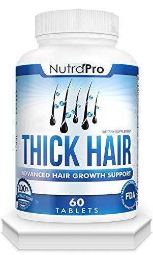 Thick Hair Growth Vitamins–Anti Hair Loss Pills With DHT Blocker Stimulates Faster Hair Growth for...