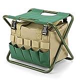 Raiysin - Taburete plegable con espacio de almacenamiento, portátil para...