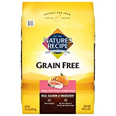 Contains 24 Pound Bag of Dry Dog Food Real nutrient-rich salmon is the #1 ingredient Natural dog food, with added vitamins, minerals and nutrients Grain free recipe – contains nutrient dense carbohydrate sources like sweet potato and pumpkin. No adde...