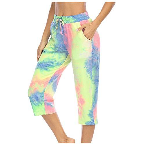 Pants, pantaloni da donna, leggings da yoga, da donna, a quadretti, in pelle, per fitness, corsa, palestra, colore: bianco, (#001) Verde, XXL