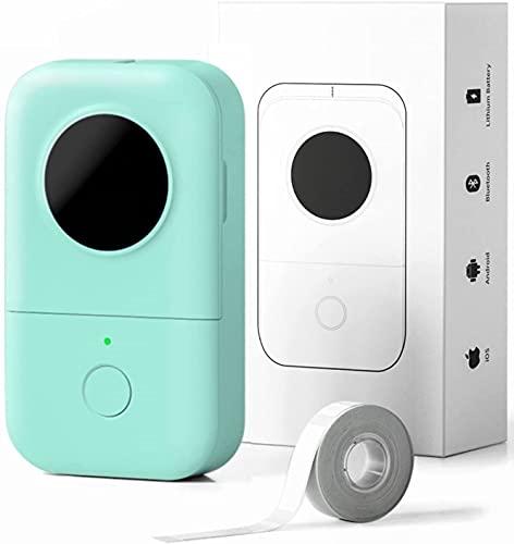 Phomemo D30 Impresora de etiquetas Bluetooth Máquina etiquetadora adhesivas impresora de etiquetas térmica portátil,para el hogar,colegio,Tienda,nombre,compatible con Android y sistema ios, Green
