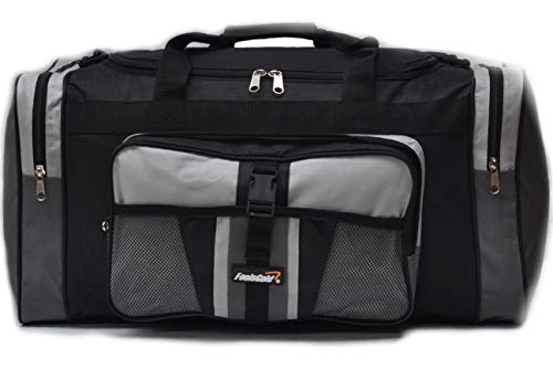 foolsGold Sports Holdall Bag 24 inch 50 Litre - Grey/Black