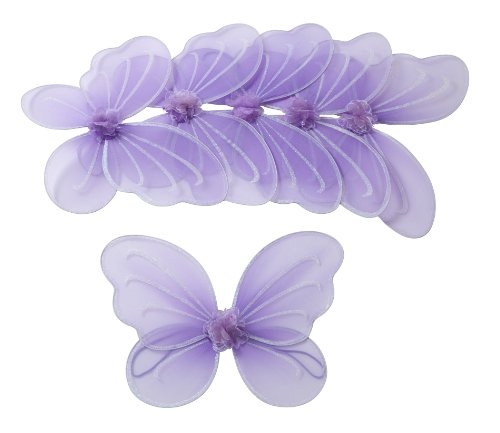Girls Butterfly, Fairy, and Angel Wings for Kids 6 Pack (Purple)