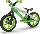 Chillafish Bmxie² Lightweight Balance Bike with Integrated Footrest and Footbrake for Kids Ages 2 to 5 Years, 12-inch Airless Rubberskin Tires, Adjustable Seat Without Tools, Lime