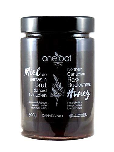 Oneroot Organic Natural Raw Canadian Buckwheat Honey 17.6 Ounce (500 Gram) (Buchwheat)