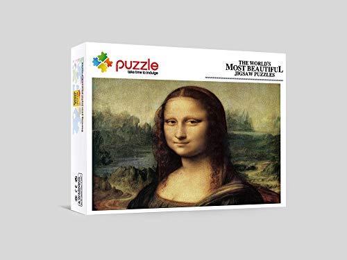 RNGNB Puzzles Adultos 1000 Piezas Puzzle Puzzle Creativo Rompecabezas Regalos De Niños para Adultos Adolescentes Mona Lisa 20.47In X 14.96In