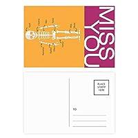 人間の骨の漫画イラスト ポストカードセットサンクスカード郵送側20個ミス