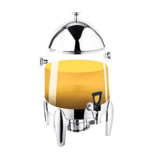 12L Urna Chafer Acero Inoxidable Dispensador De Bebidas Calientes Tarea Pesada Recipiente Para Bebidas Tanque Con Soportes De Combustible Y Grifo Sin Fugas Para Restaurantes, Buffets (Plata),Pc