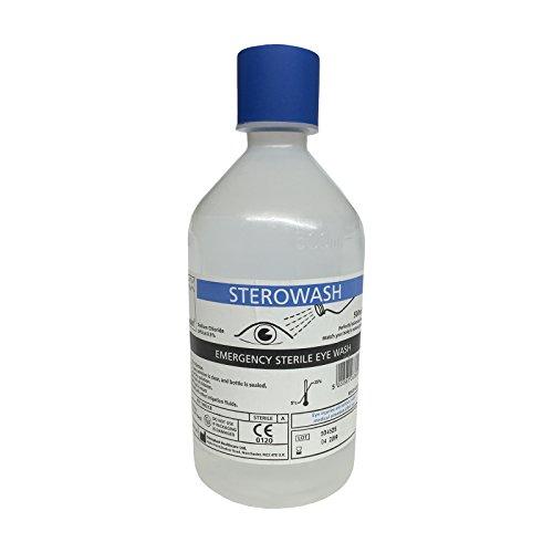 Sterowasch-Saline, steril, Natriumchlorid, 500 ml, erste Hilfe bei Wundreinigung, Salinen, Augenwaschmittel