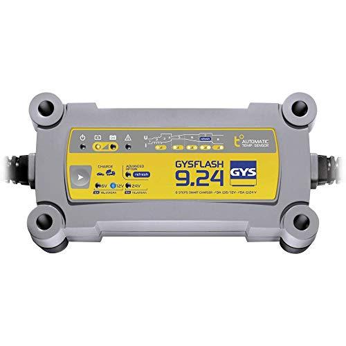 Gys - GYSFLASH 9.24 - Chargeur/Maintien de Charge - Inverter - 230V - Livré avec Pinces de Connexion