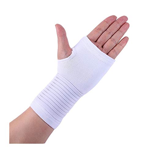 Hombres Mujeres Fitness Guardia de Pulsera Artritis Braque Supply Support Glove Transpirable Elástico Palm Hand Mandy Supports Protector (Color : W)