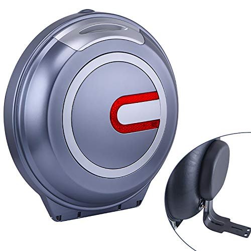 WANGPP Caja Superior Universal para Casco de Motocicleta, Estuche de Almacenamiento con Respaldo Suave y Forro de Cuero Suave Engrosado