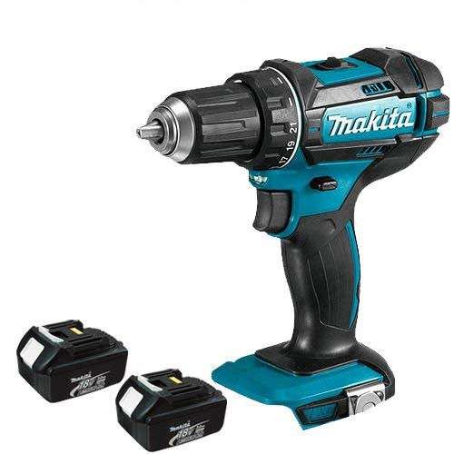 Makita DHP482Z Combi Drill 18V Cordless LXT Li-ion with 2 x 3Ah Batteries BL1830, 18 V