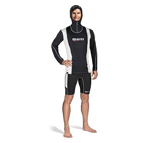 Mares Herren FIRE Skin Man Long Sleeve with Hood Tauchanzug, Schwarz, XL