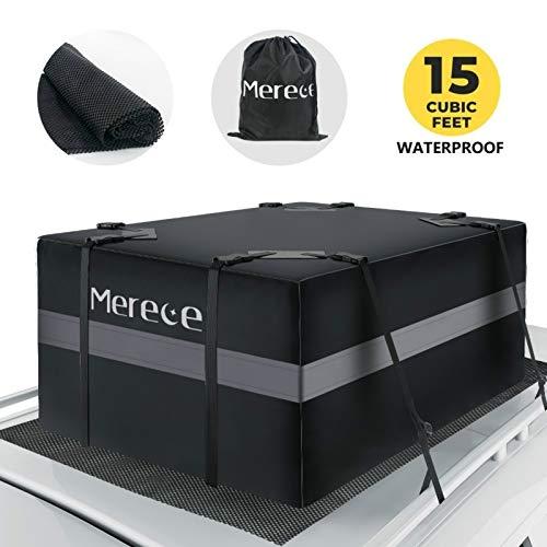 Merece Car Rooftop Cargo Carrier - Car Roof Carriers Waterproof Luggage Carrier for Car Rooftop with...