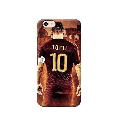 TheBigStock Cover Custodia per Tutti Modelli Apple iPhone x 8 7 6 6s 5 5s Plus 4 4s 5c TPU - G127 Roma Totti, iPhone 6