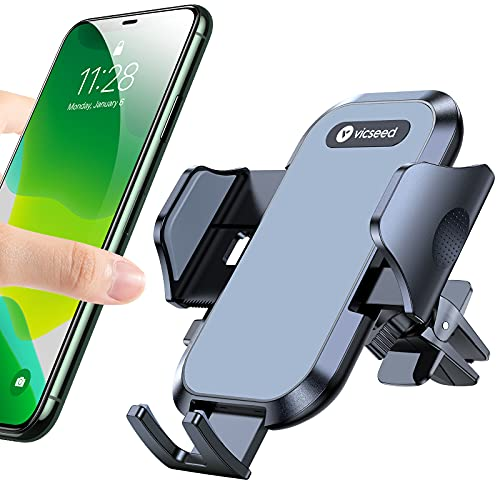 VICSEED Car Phone Holder Mount, [Upgrade Doesn't Slip & Drop] Air Vent Cell Phone Holder for Car Hands Free Easy Clamp Cradle in Vehicle Compatible...