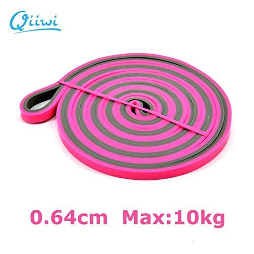 Mdsfe 210 cm elastische elastiek voor yoga, oefening, ring, fitness, gum Pink-a754