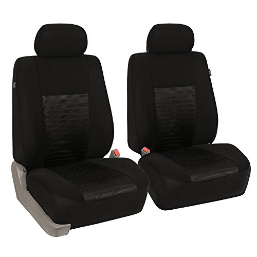 SEAT COVERS DELUXE WATERPROOF BLACK i SEMI FIT A FIAT QUBO CAR FULL SET