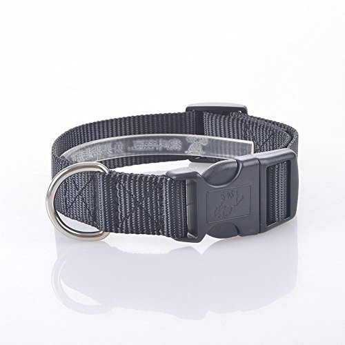 Pet Online Collar de perro perro grande de nylon de color negro, collar de PET, L: 25*37-60cm.