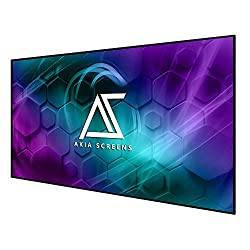 """commercial Akia Screens 125 """"Fixed Frame and Free Edge Projector Screen 125"""" 16: 9 Diagonal 8K 4K Ultra HD 3D… fixed frame screen"""