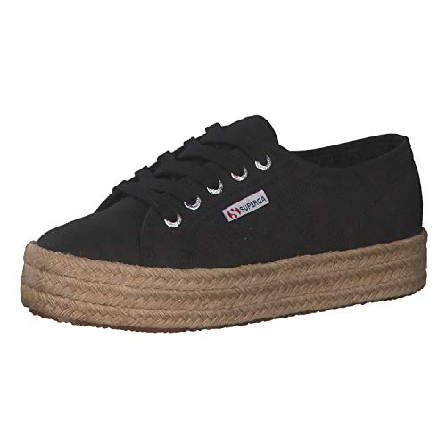 Superga 2730-cotropew, Zapatillas de Gimnasia para Mujer, Negro (Black 999), 42 EU
